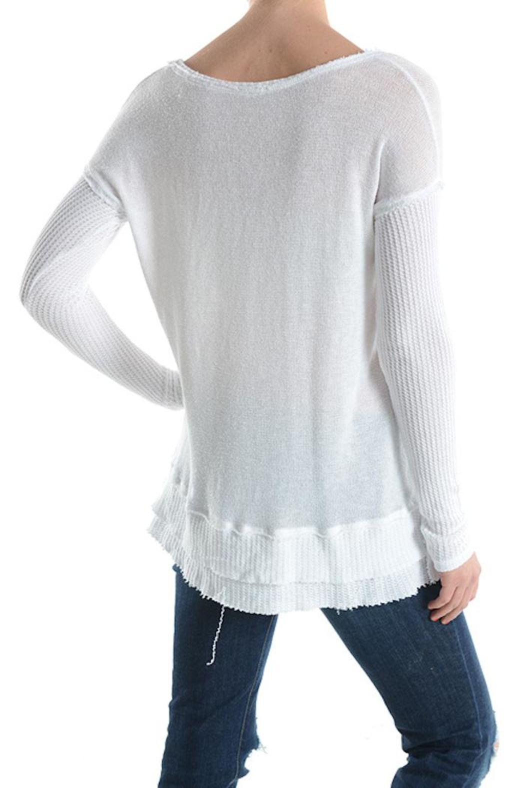 T Party Waffle Knit Top - Front Full Image