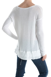 T Party Waffle Knit Top - Front full body