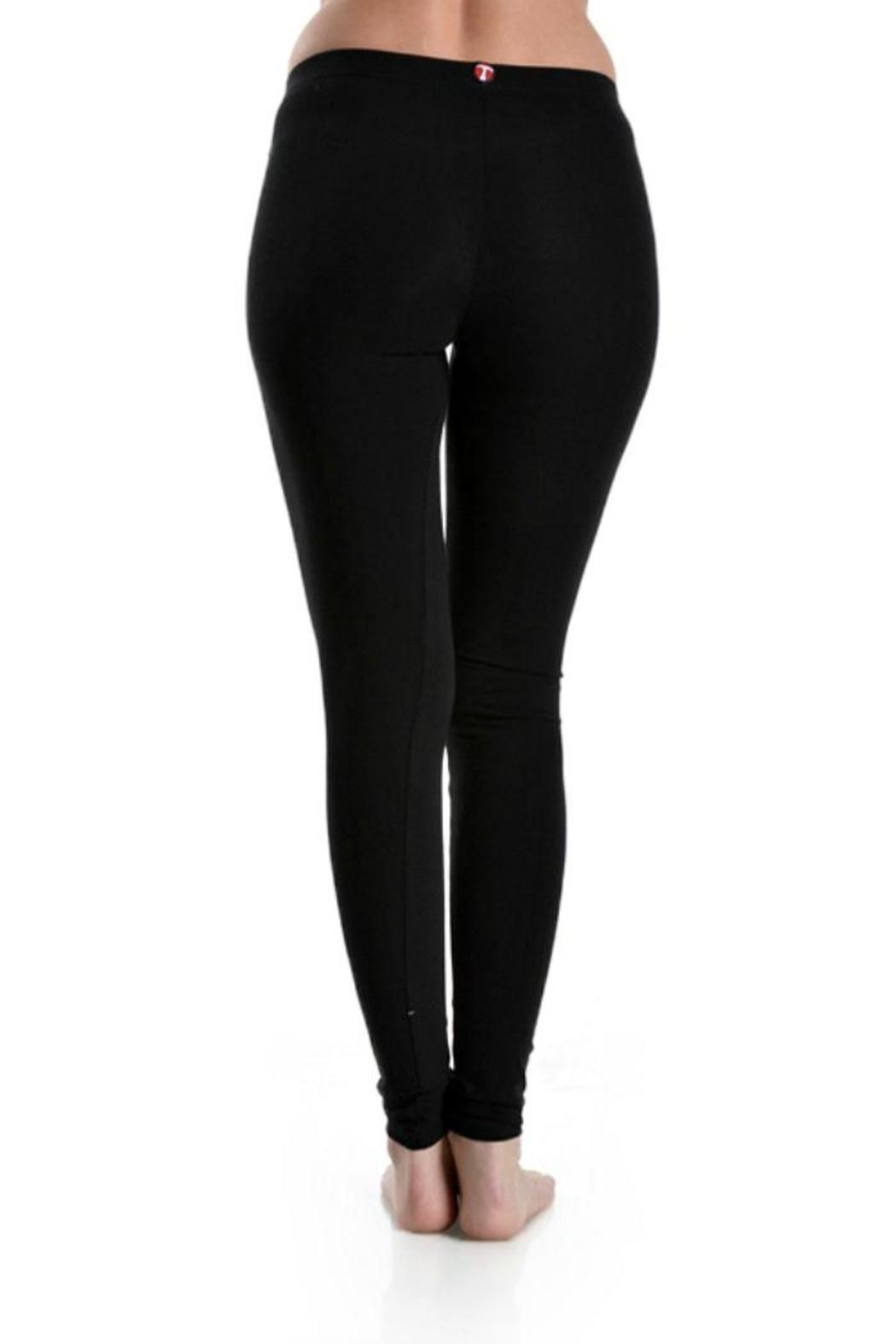 T Party Yoga Pants - Front Full Image