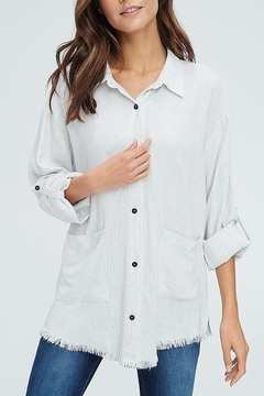 crescent Tab Sleeve Striped Shirt - Product List Image