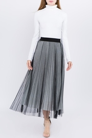 Tabac Tulle Pleated Skirt - Front cropped