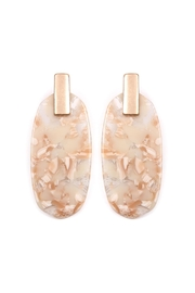 Riah Fashion Tablet-Acetate Post Earring - Product Mini Image
