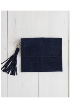 The Birds Nest TABLET CASE WITH TASSEL-NAVY SUEDE - Product List Image