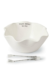Mud Pie Taco Sald Bowl - Front cropped