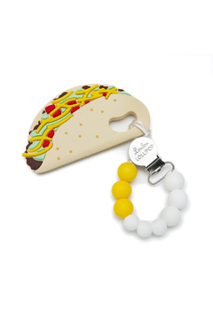 loulou LOLLIPOP Taco Silicone Baby Teether Holder Set - Alternate List Image