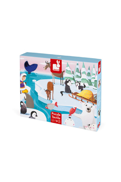 Janod Tactile Puzzle Life On The Ice - Product List Image