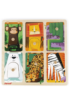 Janod Tactile Zoo Puzzle - Product List Image