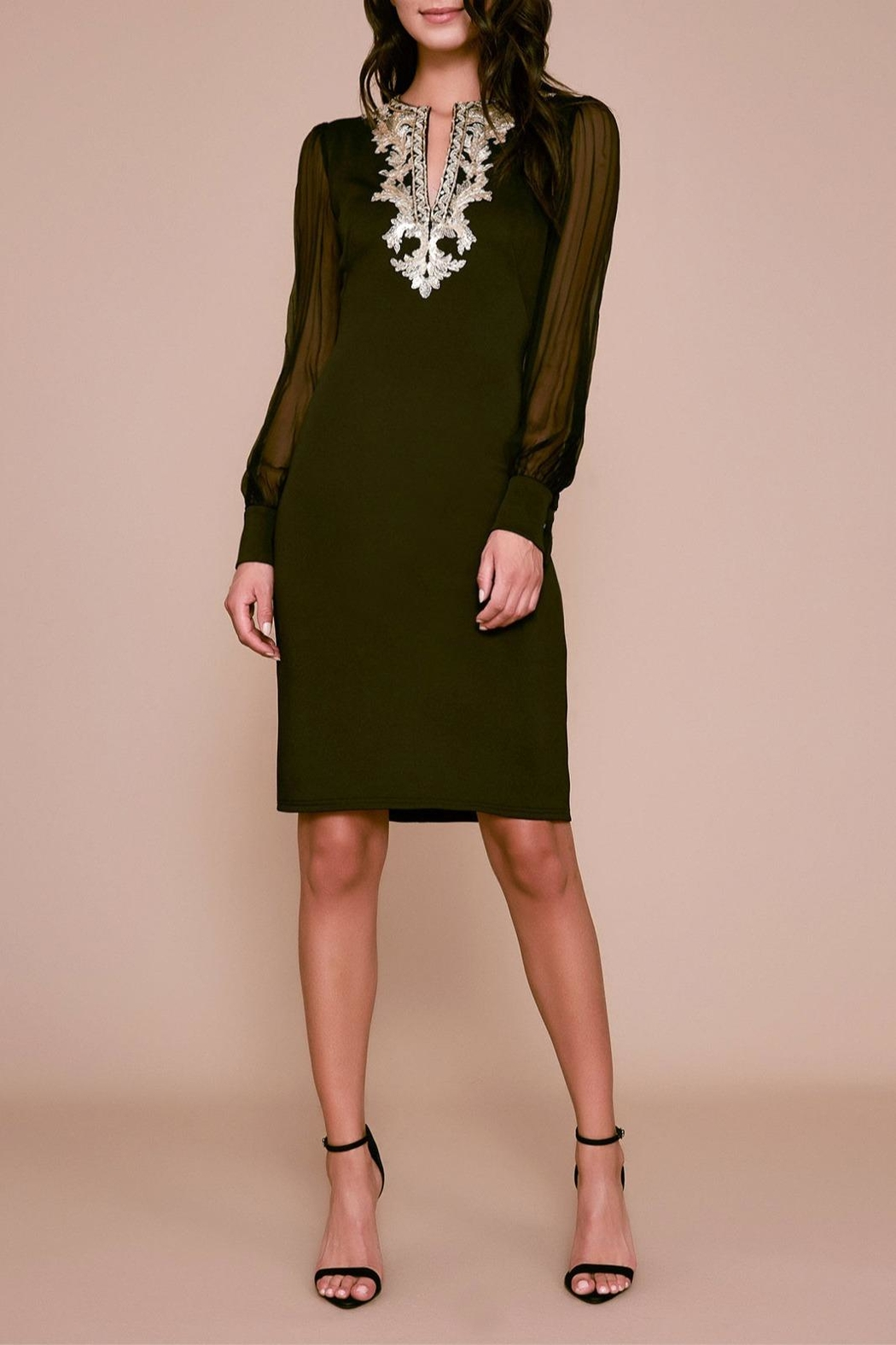 Tadashi Shoji Berch Long-Sleeve Dress - Main Image