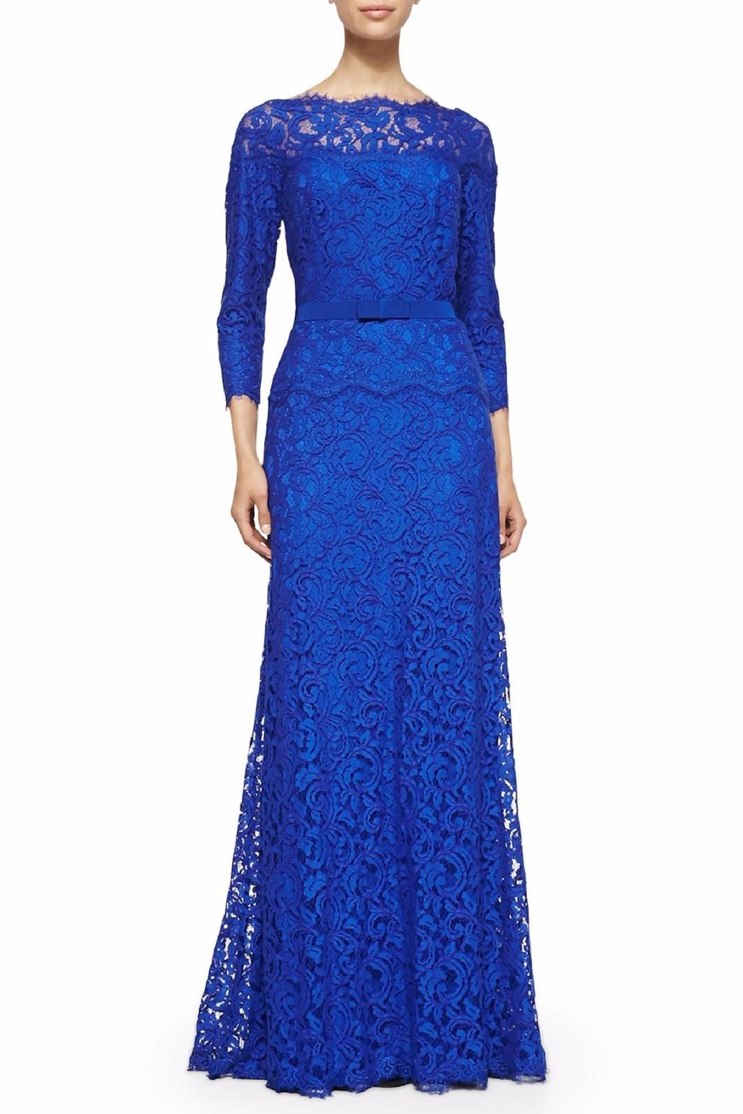 Tadashi Shoji Blue Lace Gown from New Jersey by District 5 Boutique ...