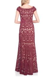 Tadashi Shoji Embroidered Lace Gown - Front full body