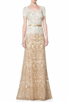 Tadashi Shoji Gold Lace Gown - Product List Image