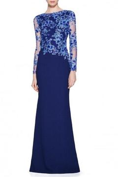 Shoptiques Product: Blue Long Sleeve Gown