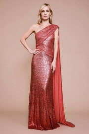 Tadashi Shoji One-Shoulder Sequin Gown - Product Mini Image