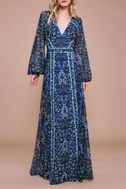 70s Prom, Formal, Evening, Party Dresses Print Chiffon Gown $508.00 AT vintagedancer.com