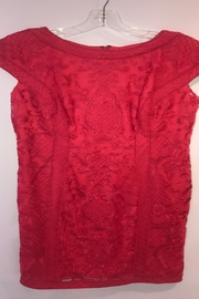 Tadashi Shoji Red Lace Dress - Product Mini Image