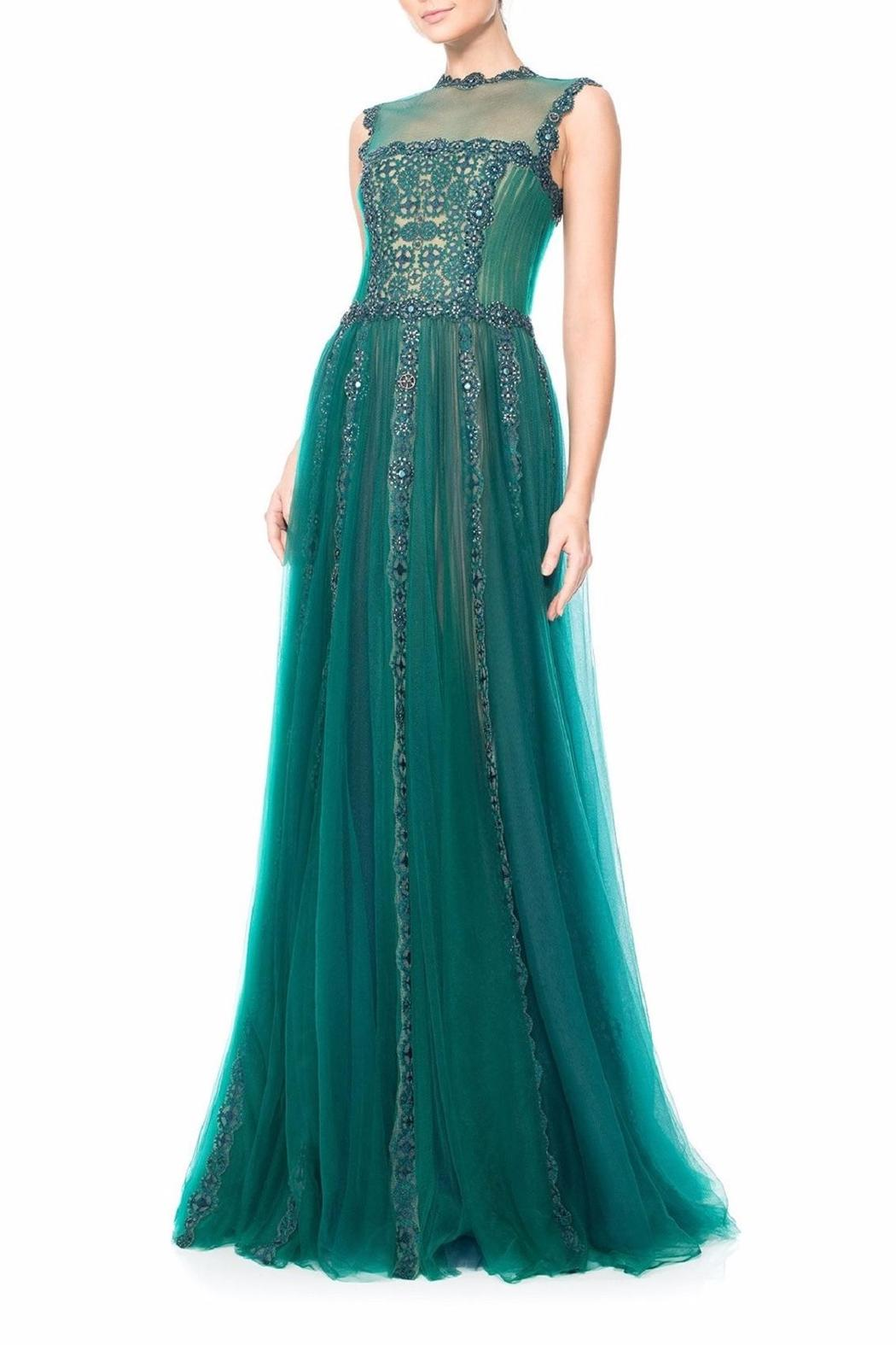 Tadashi Shoji Sleeveless Green Gown from New Jersey by District 5 ...