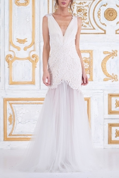 Tadashi Shoji Sleeveless Wedding Gown - Product List Image