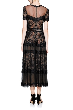 Tadashi Shoji Black Lace Midi Dress - Alternate List Image