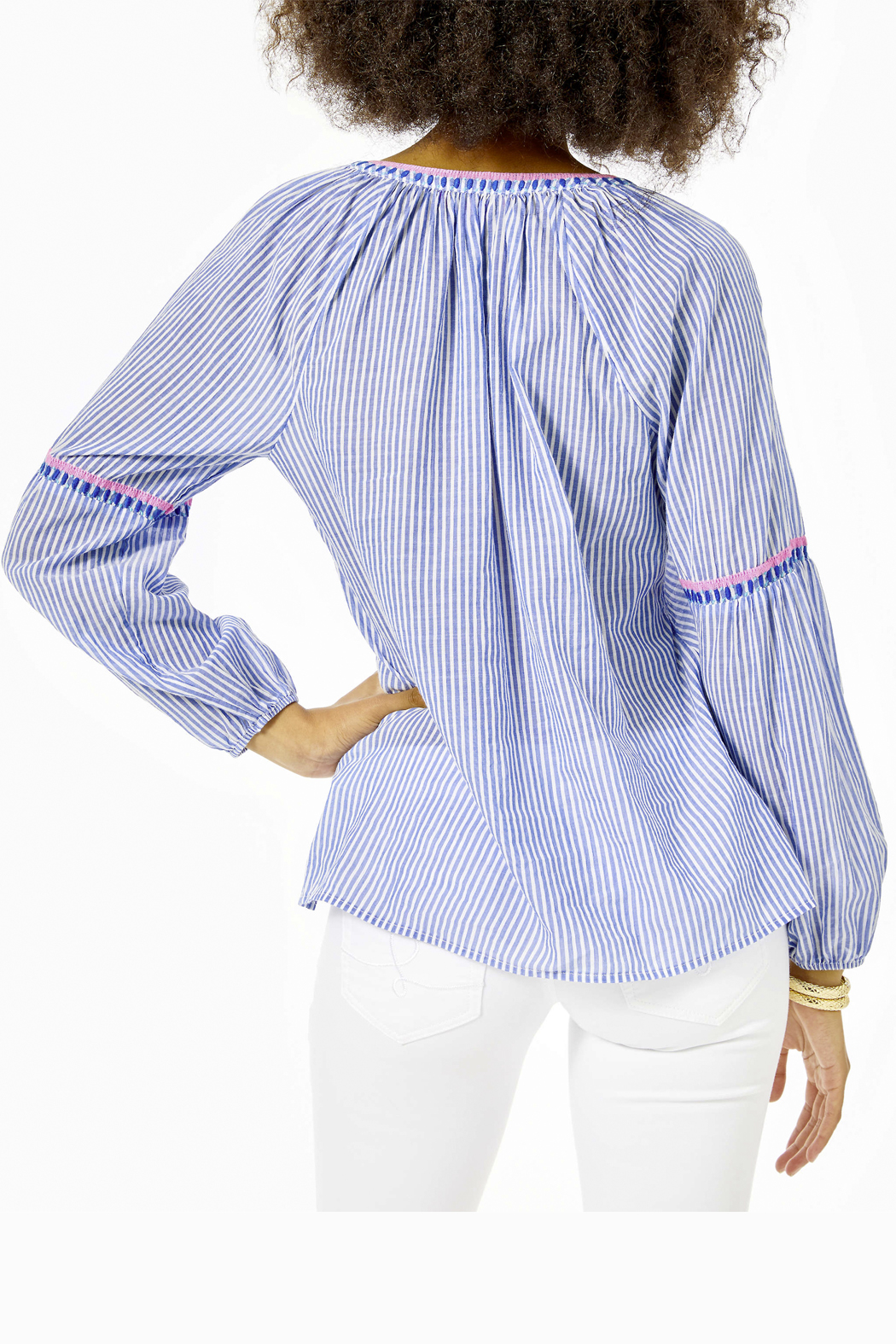 Lilly Pulitzer  Taelynn Striped Top - Front Full Image