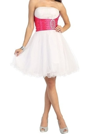 DANCING QUEEN Taffeta + Mesh Dress - Product Mini Image