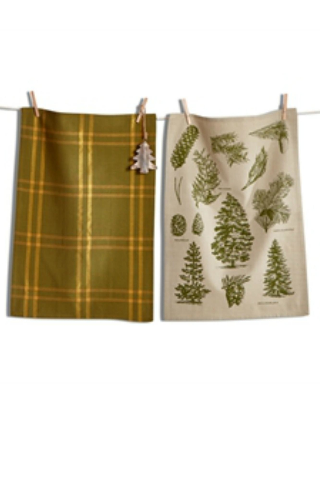 Tag Dishtowel W/ Ornament - Front Cropped Image