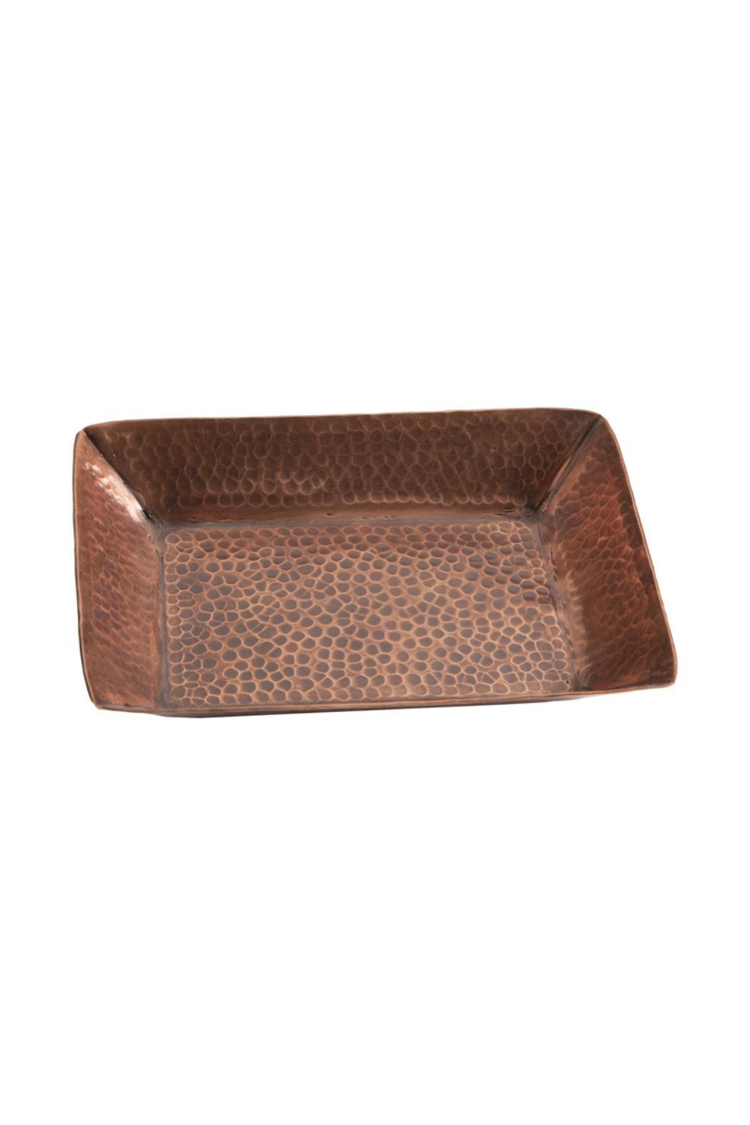 Tag Hammered Copper Tray - Main Image