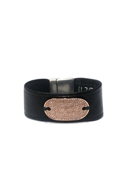 Lets Accessorize Tag Leather Bracelet - Product Mini Image