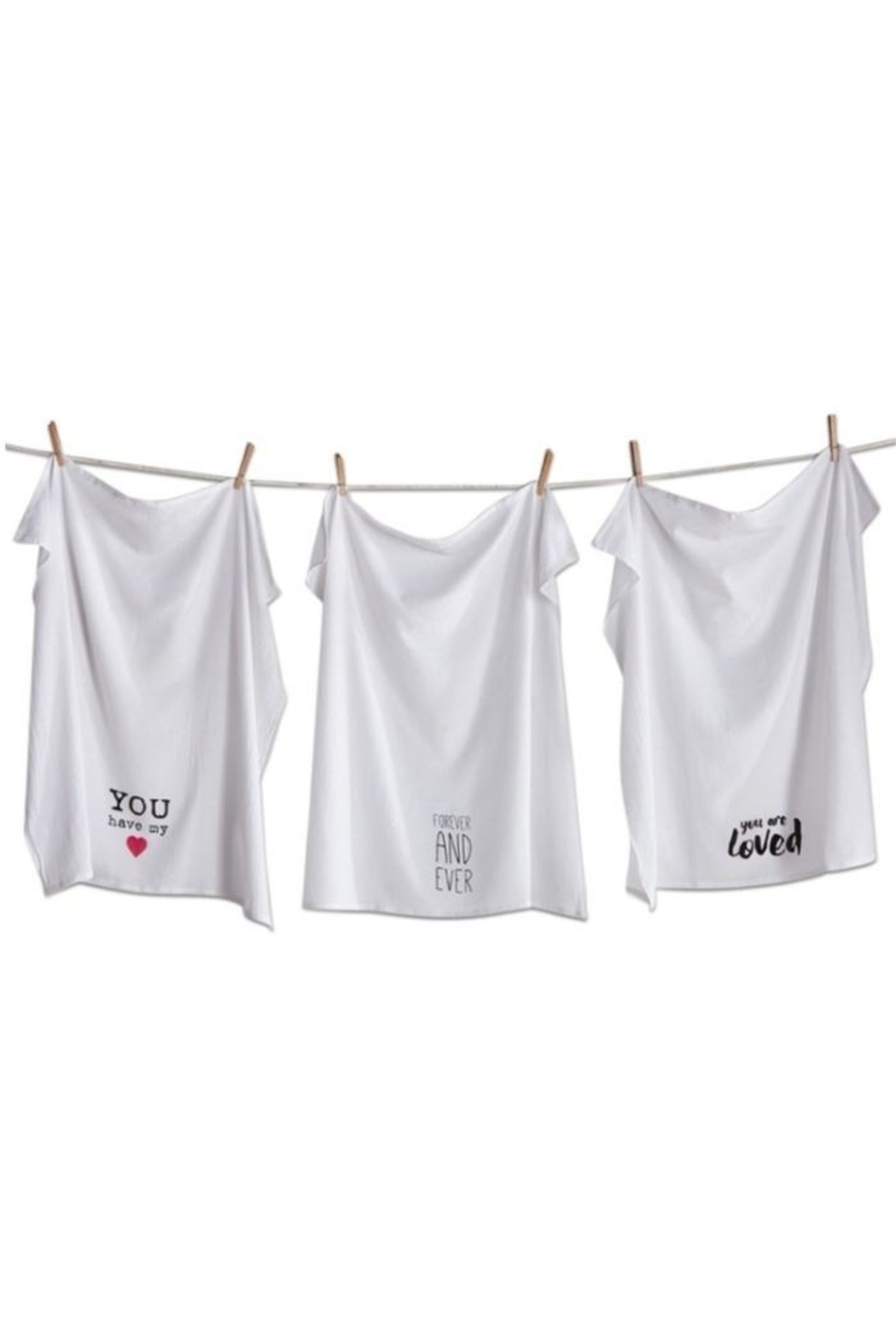 Tag Love Notes Dishtowel-Set - Front Cropped Image