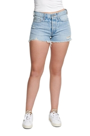 TAGS Denim Short w Rip - Front cropped