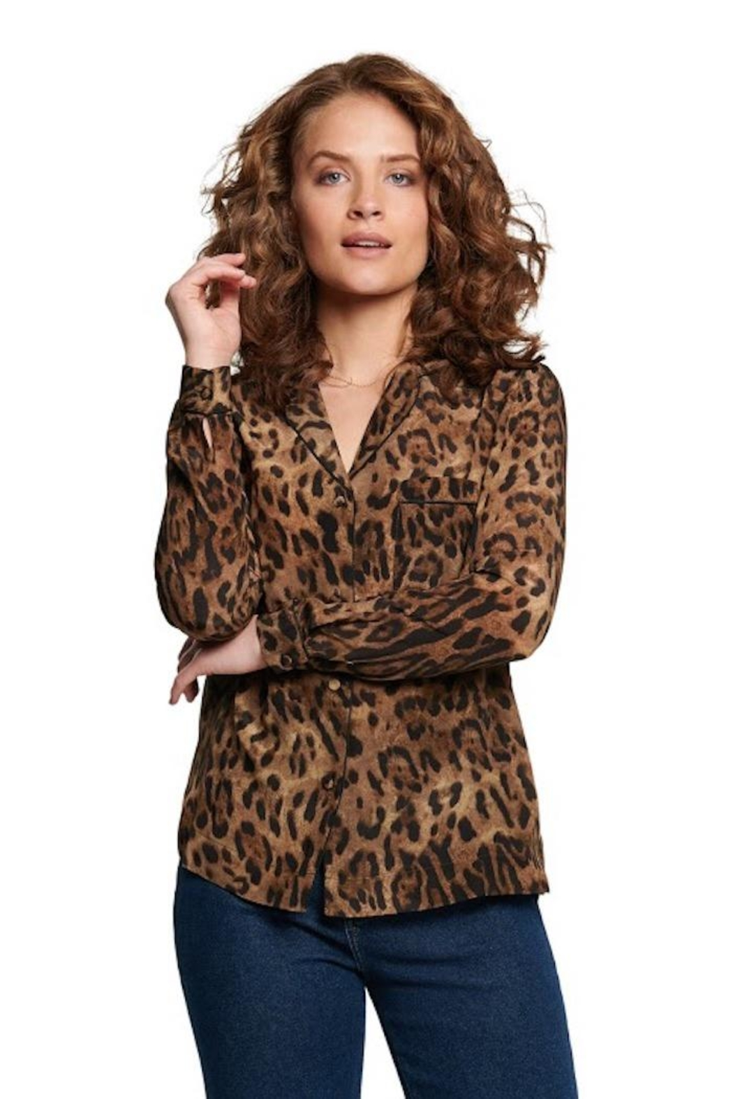 TAGS Leopard Button Up - Main Image
