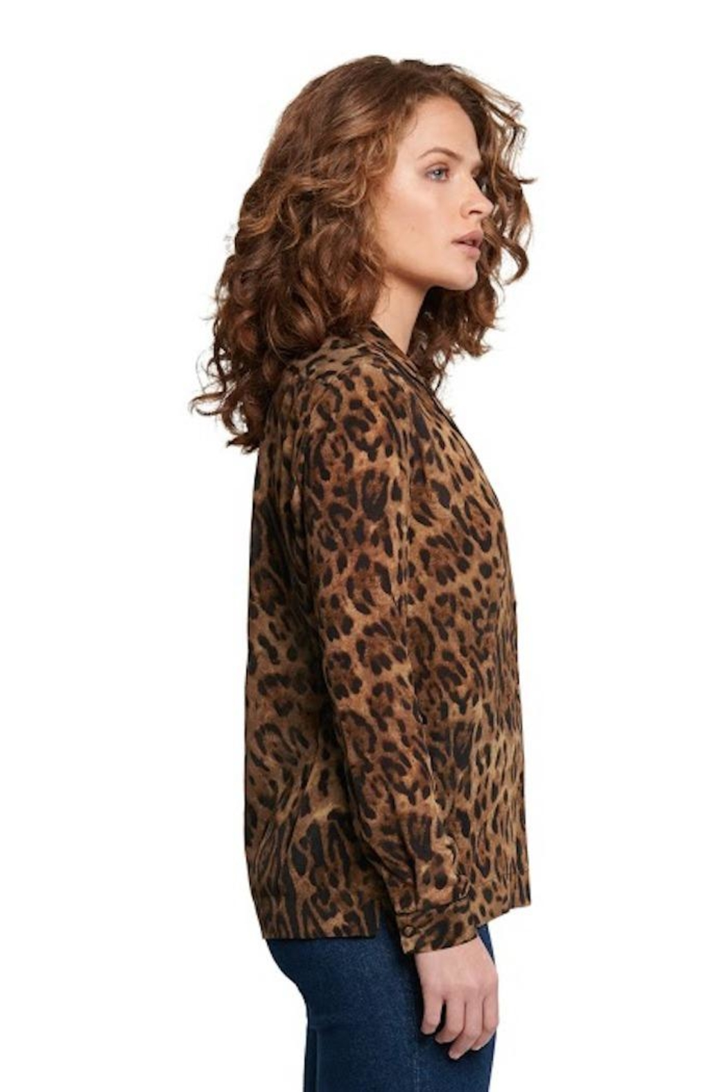 TAGS Leopard Button Up - Front Full Image