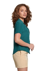 TAGS Short Sleeve Silk Top - Front full body