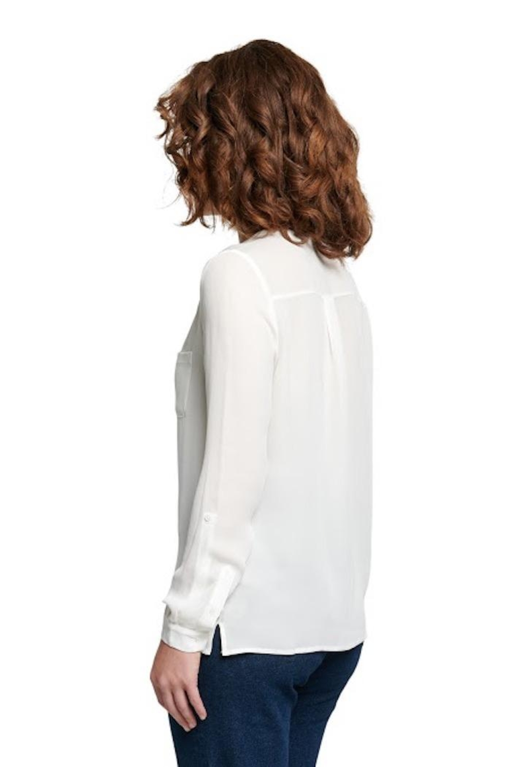 TAGS Silk Longsleeve Top - Front Full Image