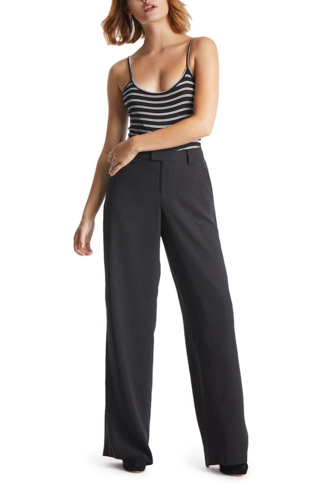 TAGS Wide Legged Trousers - Back Cropped Image