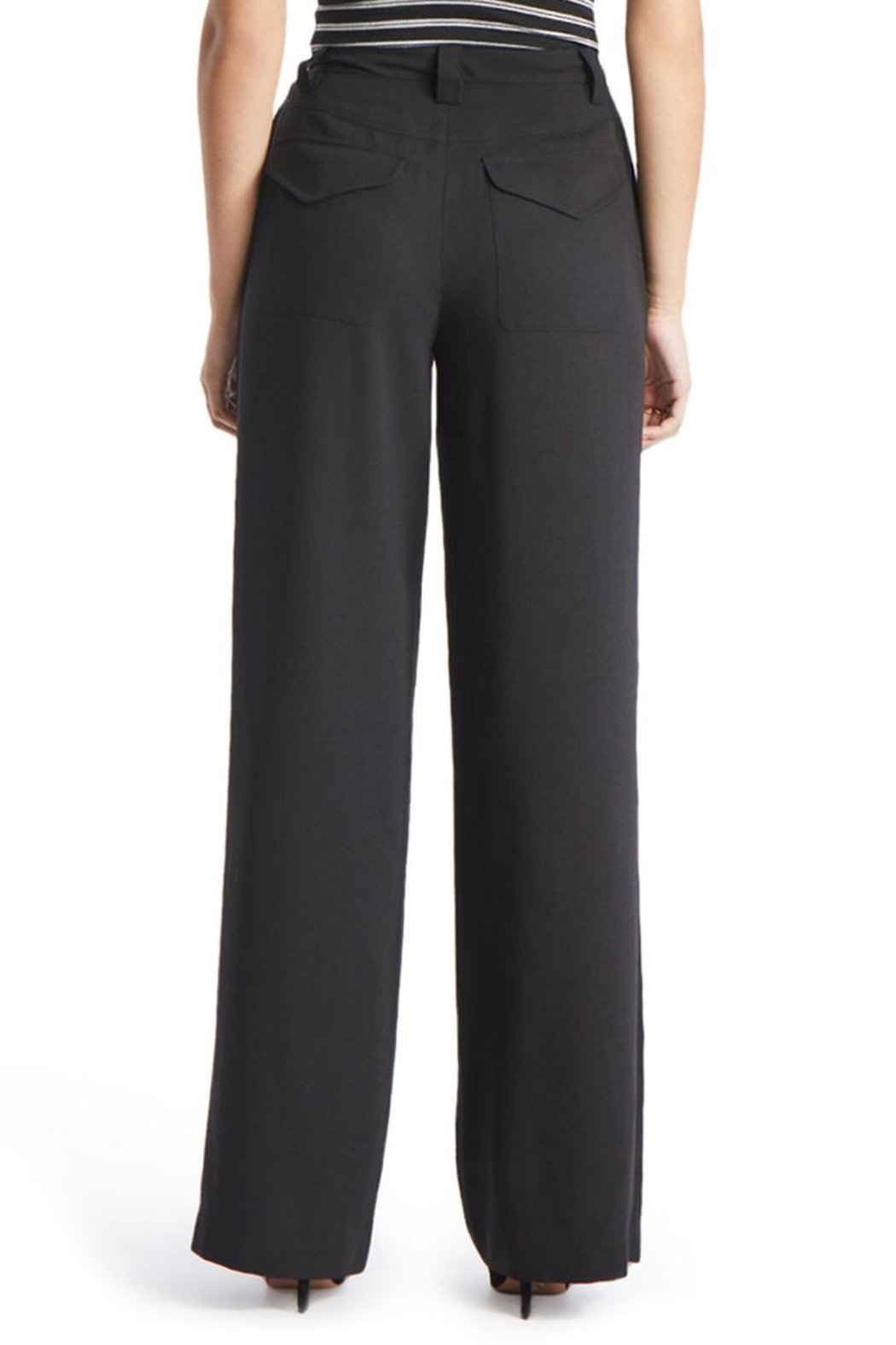 TAGS Wide Legged Trousers - Side Cropped Image
