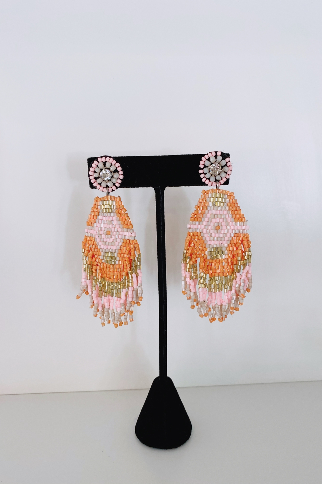 ADRIANA JEWERLY Tai Beaded Earrings - Front Cropped Image