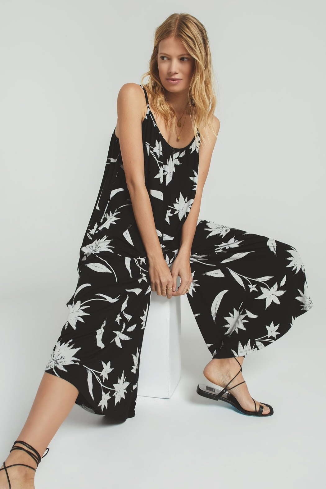 Z Supply  Tai Floral Jumpsuit - Back Cropped Image