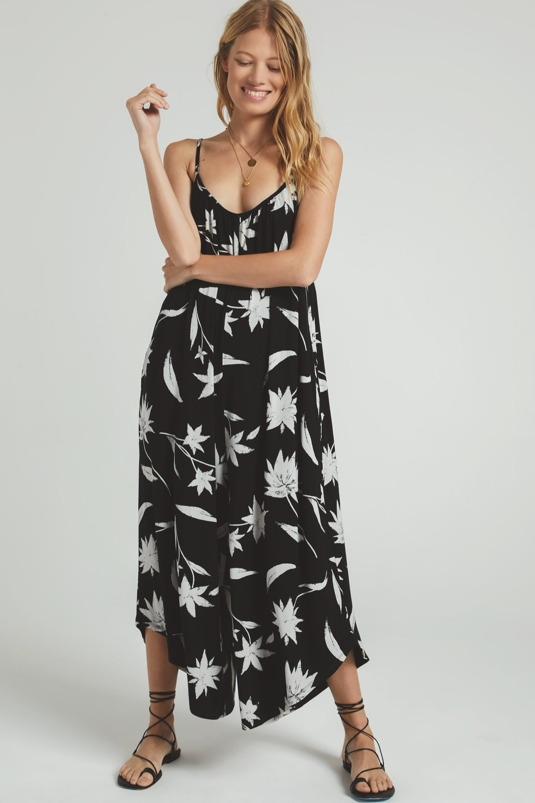 Z Supply  Tai Floral Jumpsuit - Front Full Image