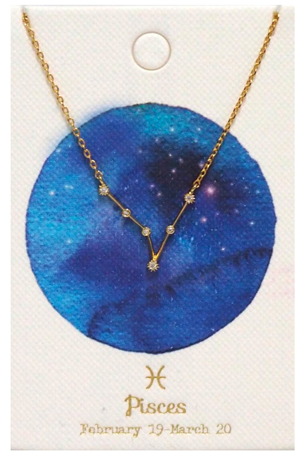 Tai Pisces Zodiac Necklace - Front Full Image