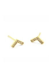 Tai Jewelry Pave Chevron Studs - Product Mini Image