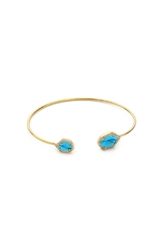 Tai Jewelry Turquoise Pave Bangle - Front cropped