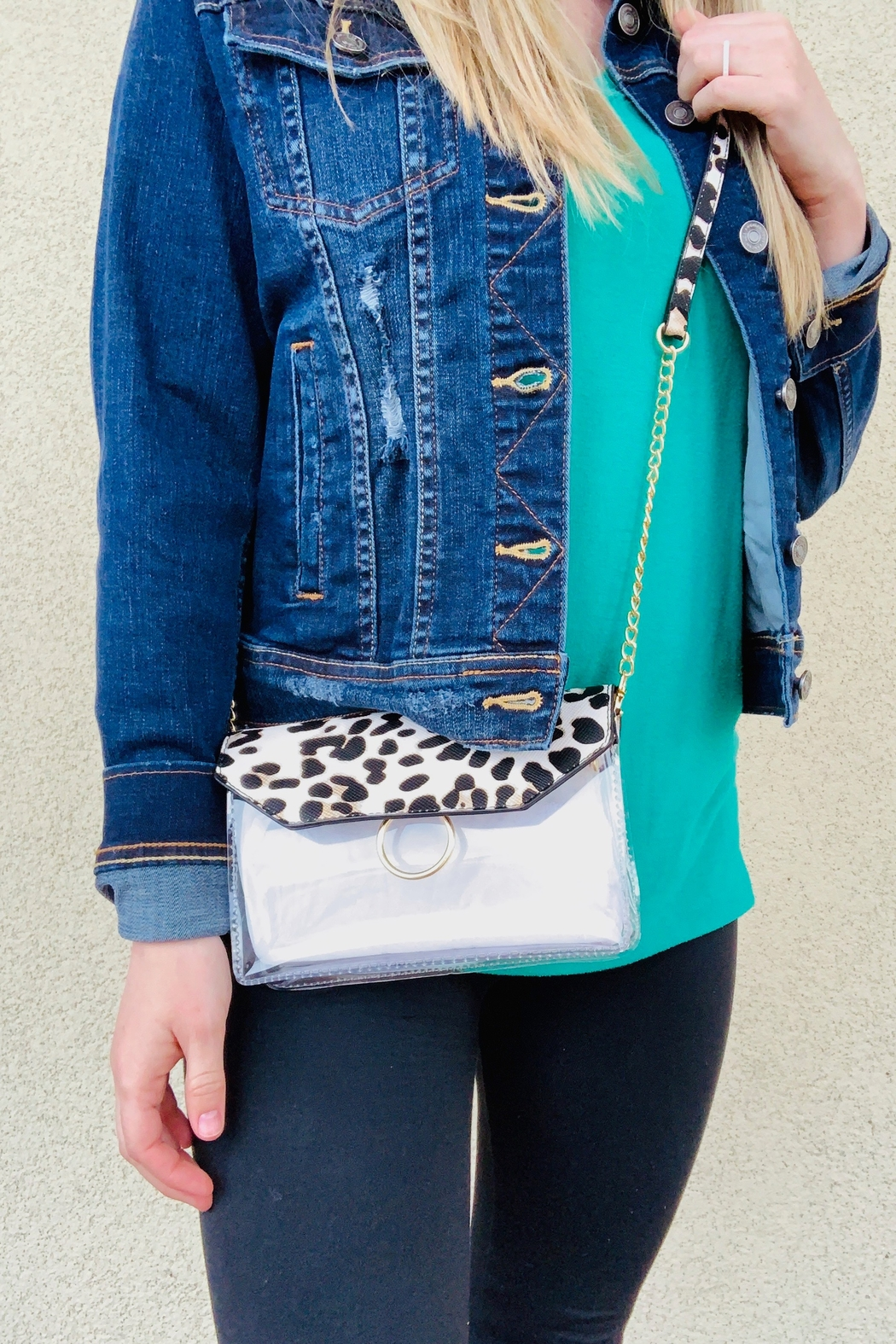 Caroline Hill Tailgate Clear Crossbody - Front Cropped Image