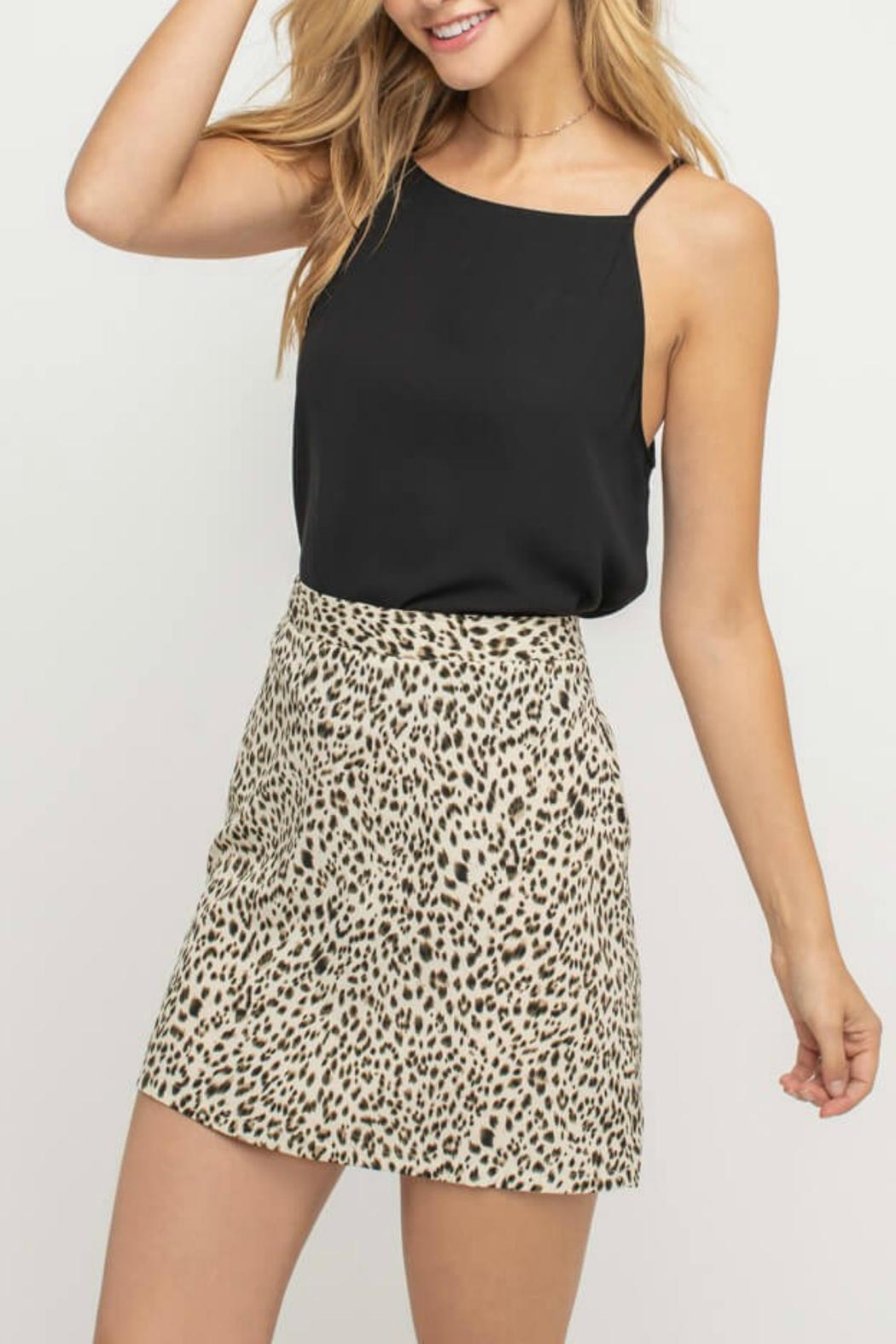 0fd42761ce1e16 Pretty Little Things Tailored Leopard Skirt from New Hampshire ...