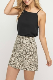 Pretty Little Things Tailored Leopard Skirt - Front cropped