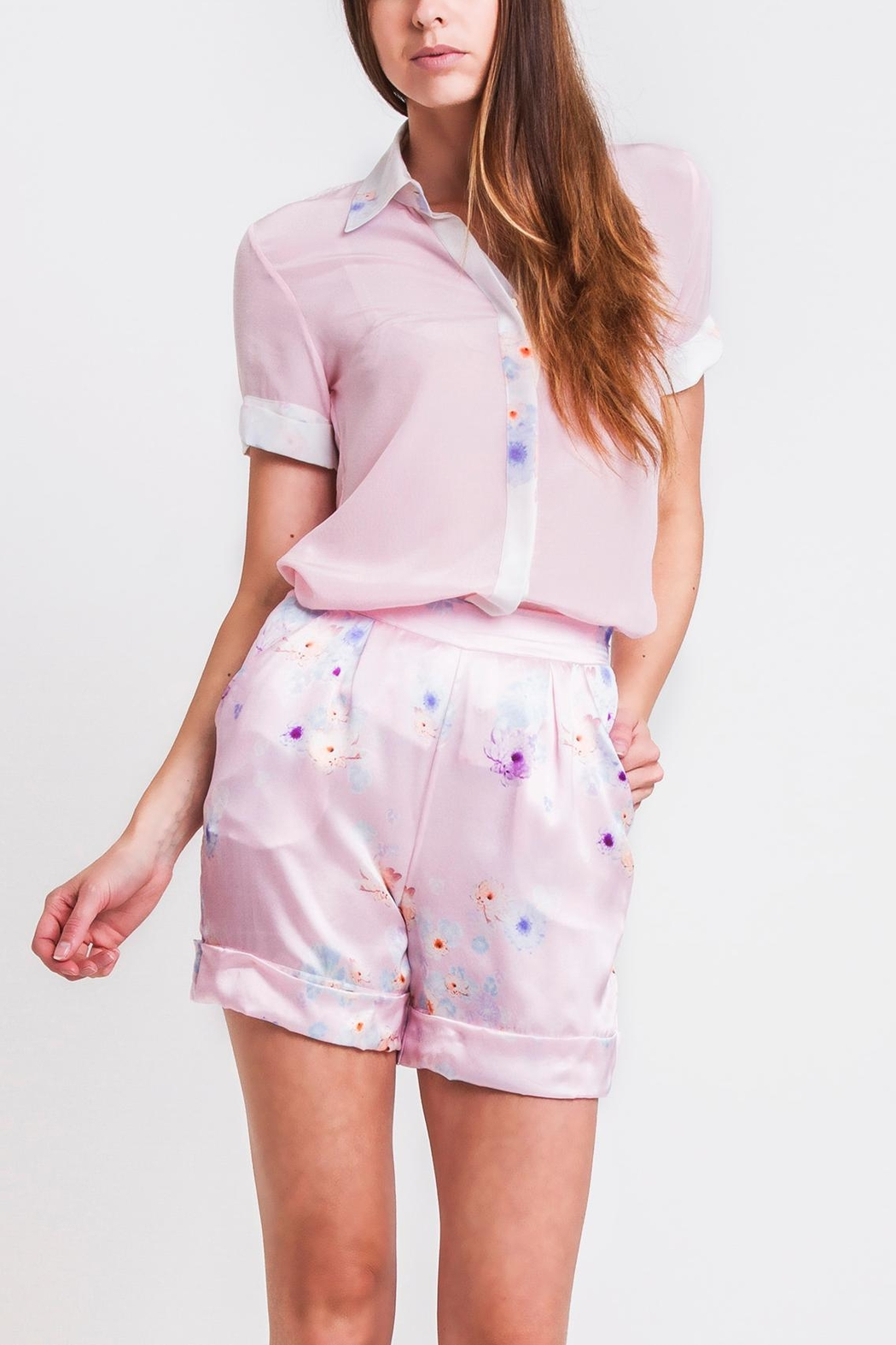 Sophie Cameron Davies Tailored Silk Short - Front Cropped Image