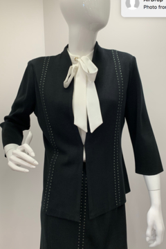 Ming Wang Tailored Studded Jacket - Product List Image