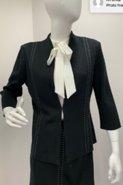 Ming Wang Tailored Studded Jacket - Product Mini Image