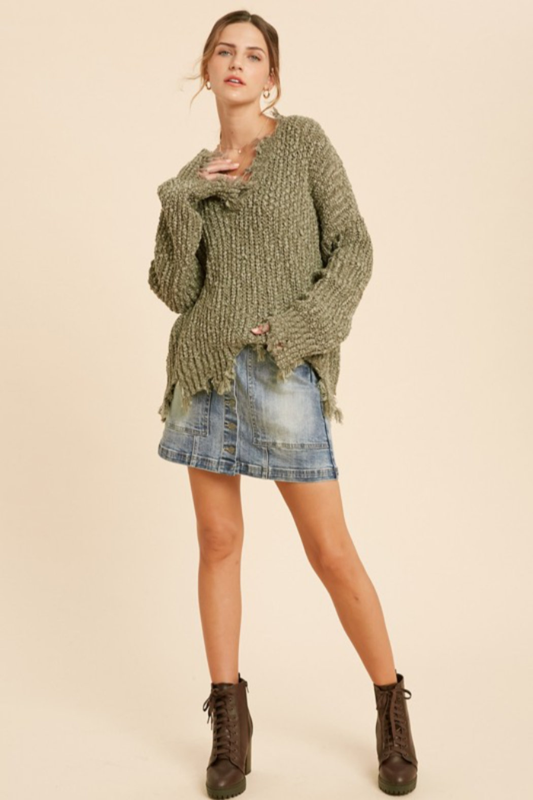 Wishlist  Tainted Love Sweater - Front Cropped Image