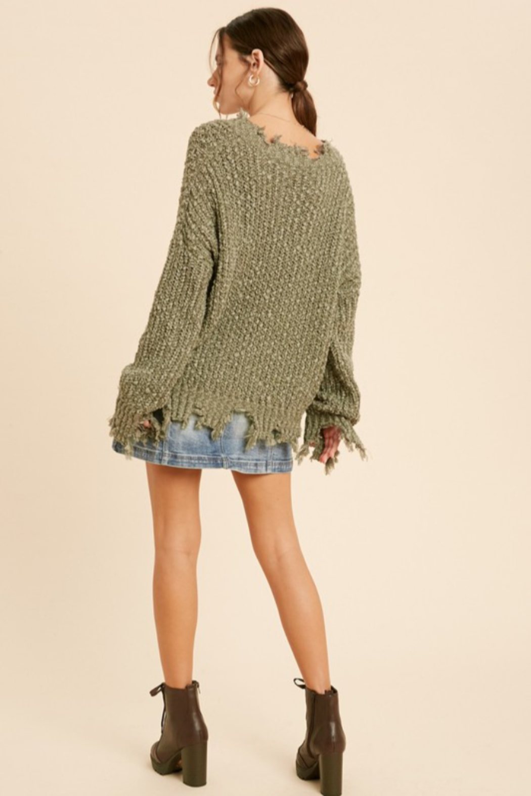 Wishlist  Tainted Love Sweater - Side Cropped Image