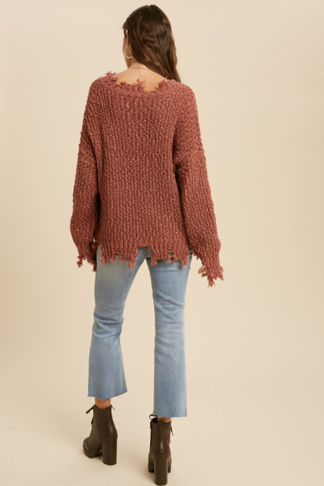 Wishlist  Tainted Love Sweater - Back Cropped Image